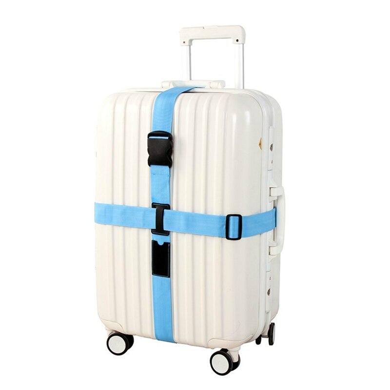 Mala do trole do curso personalizado seguro embalagem cinto ajustável cruz bagagem correias peças artigos acessórios fonte produto