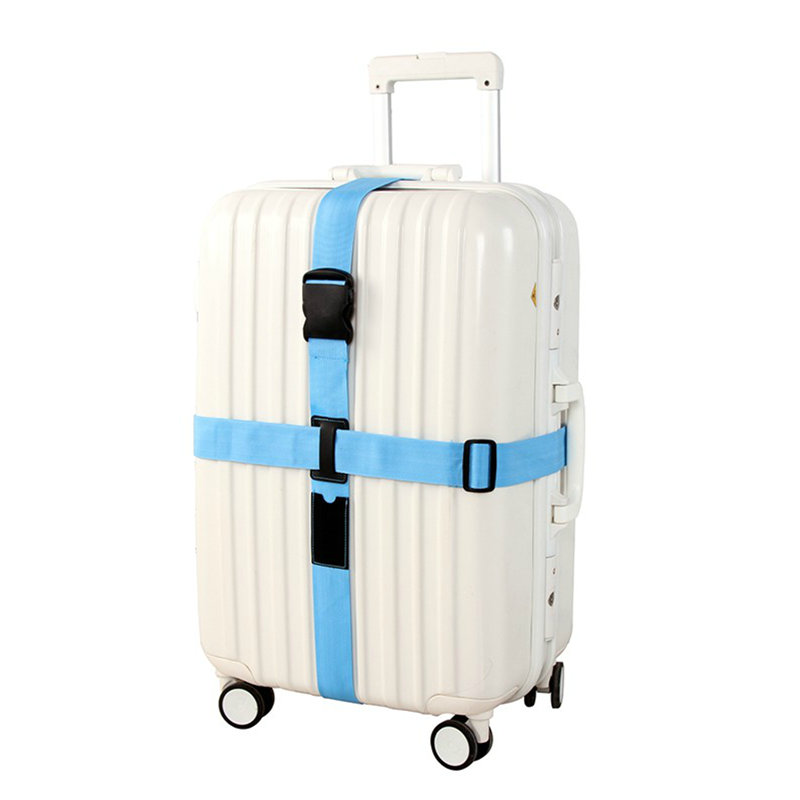 Travel Trolley Suitcase Personalized Safe Packing Belt Adjustable Cross Luggage Straps Parts Items Accessories Supply Product