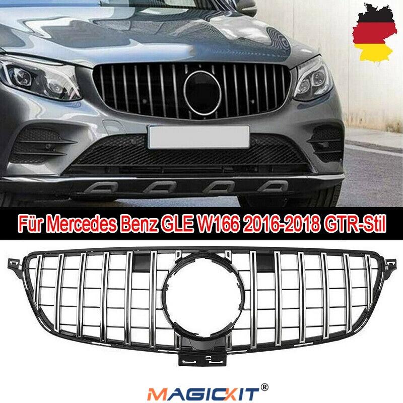 MagicKit GTR krom ön üst izgara izgara Mercedes Benz için W166 GLE Coupe SUV 15-18