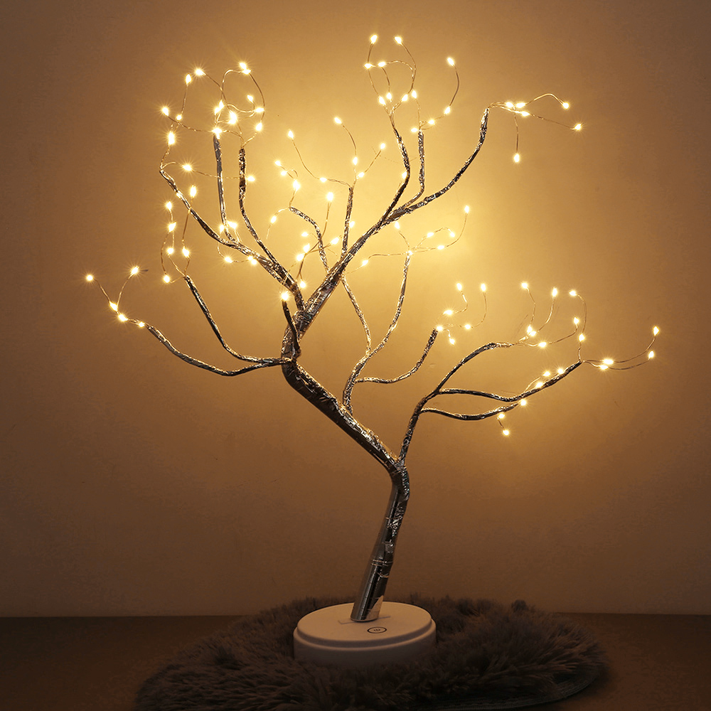 Purple Pink Green Bright LED Lamp 108 LEDS Greeting Tree Lights Copper Wire Tree For Home Holiday Lighting Christmas Tree Light