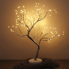 Purple Pink Green Bright LED Lamp 108 LEDS Greeting Tree Lights Copper Wire Tree For Home Holiday Lighting Christmas tree light(China)
