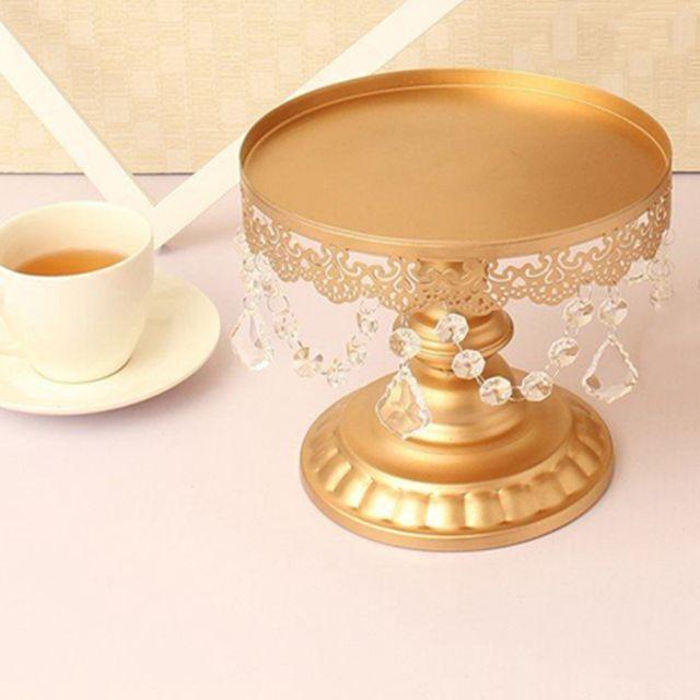Gold Mirror Dessert Stand