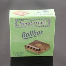 Rollbox Rolling Box Case Manual Cigarette Smoker Manual Smoker Stainless Steel Cigarette Maker Smoking Accessories