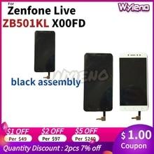 """Wyieno прозрачный в наличии 100% протестированный 5 """"для ASUS Zenfone Live ZB501KL X00FD ЖК дисплей сенсорный экран дигитайзер сенсор в сборе"""