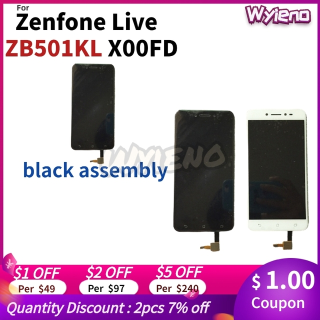 "Wyieno Original Tested 5"" for ASUS Zenfone Live ZB501KL X00FD LCD Display Touch Screen Digitizer Sensor Assembly"