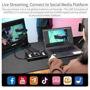 Image 5 - FEELWORLD محول فيديو LIVEPRO L1 V1 ، محول فيديو مباشر 4xHDMI ، Hdmi ، USB3.0 ، تنسيق متعدد ، استوديو ، معاينة ، كاميرا Youtube