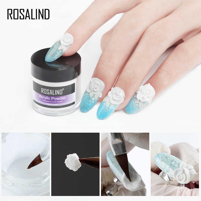 ROSALIND Poudre Acrylique 30g Trempage Sculpture Cristal Poudre Poly Gel Pour L'extension des Ongles Manucure Ongles Gel Kit