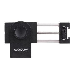 Image 5 - Andoer Metal telefon tutucu tripod mesnet adaptörü soğuk ayakkabı montaj mikrofon LED Video ışığı aksesuarları Smartphone için