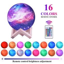 3D лунный свет лампы 16 видов цветов пространство ночник дистанционное управление Луна лампы с подставкой Galaxy лампы для лучшие подарки для де...