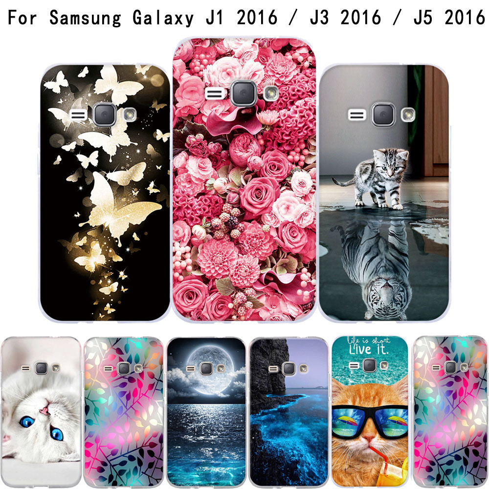 Պայուսակ Samsung Galaxy J1 J3 J5 2016 J120F Case Soft TPU Funda Coque For Samsung J1 J3 J5 2016 Cover For Samsung J1 J3 J5 6 Case
