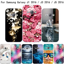 цена на Abstract Flower Painting Soft Silicone Capa Case For Samsung Galaxy J1(6) J120 J120F J1 2016 SM-J120F Cartoon Fundas Phone Cases