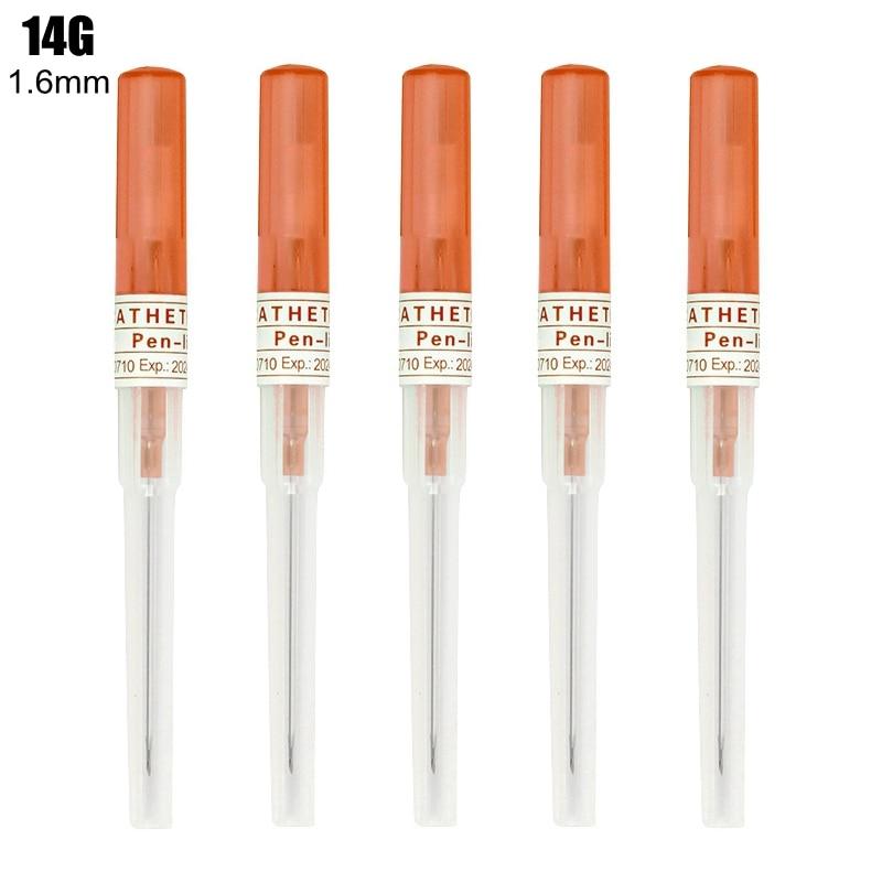 25/50 шт в наборе, 14G 16G 18G 20 гр 22 гр татуировки пункционная игла хирургический Сталь катетер тела стерилизованные иглы для пирсинга Иглы для тат...