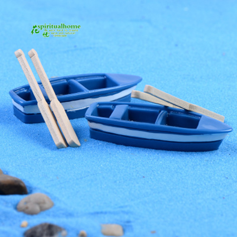 Boat And Propeller Fish Sea Ship Steamer Boat Race Small Statue Figurine Crafts Ornament Miniatures Fisherman Children Player
