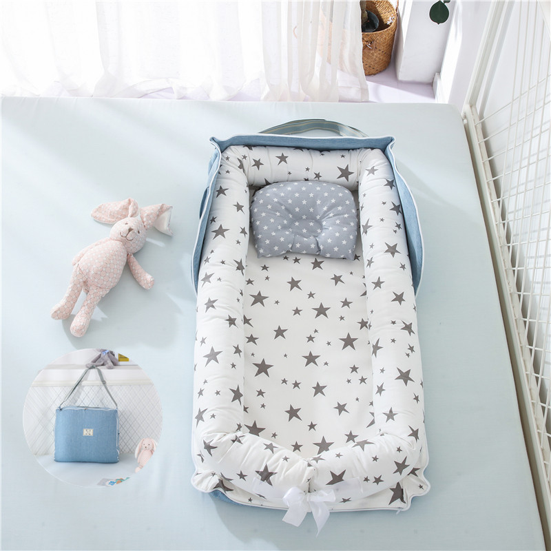 Portable Baby Nest Bed Travel Folding Crib Backpack Newborns Cots Nursery Sleep Nest Infant Cradle Bumper Nest