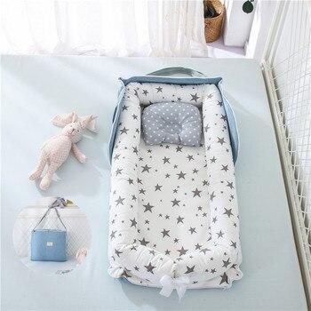 Portable Baby Nest Bed Travel Folding Crib Backpack Newborns Cots Nursery Sleep Nest Infant Cradle Bumper Nest