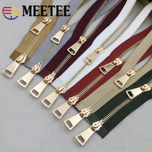 2pcs Meetee 5# Metal Zipper 120cm Double Sliders Open-End Zip for Sewing Down Jacket Coat Clothing Accessories DIY Tailor Craft