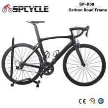 Spcycle 2019 nowy 700C pełna węgla rower szosowy Ultegra R8000 22 prędkości pełna węgla wyścigi rowerów 7 8kg Ultralight rower szosowy tanie tanio Mężczyzna Z włókna węglowego Ze stopu aluminium ze stopu aluminium Mężczyźni 165-195cm 7 5 kg Pokój v hamulca 0 1 m3