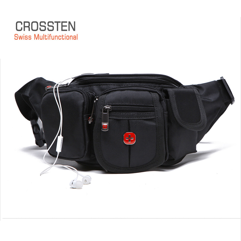 CROSSTEN HIGHT QUALITY 230D SwissMultifunctional NYLON TRAVEL BUM BAG BELT WAIST BAG FANNY PACK CHEST BAG