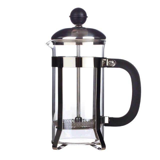 French Presses Coffee Pot Practical Coffee Maker Multifunctional Durable Coffee Kettle Teapot Stainless Steel Glass Coffeeware 3