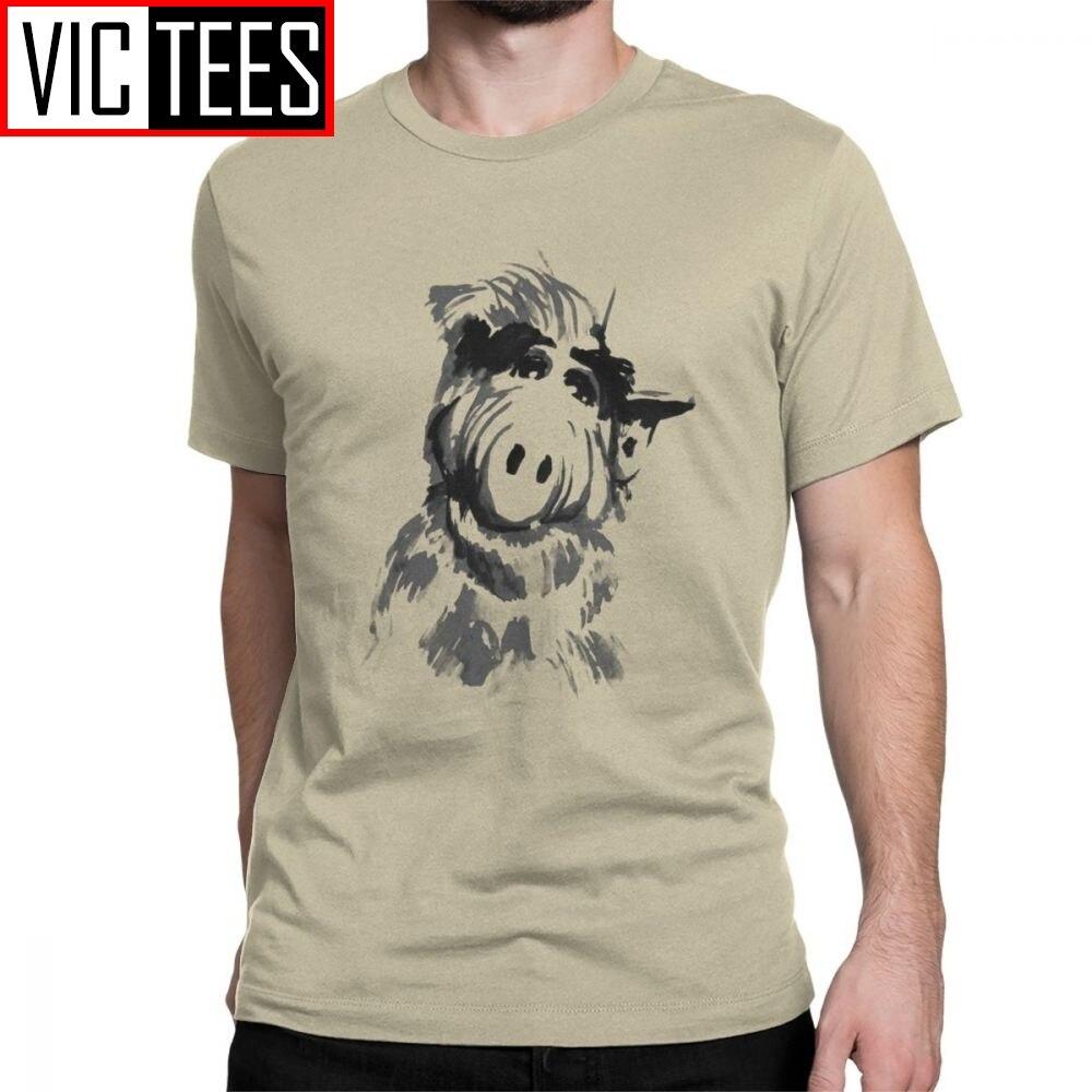 Alf Men's T Shirts Tv Comedy Gordon Shumway Sitcom Cat Series Alien Hipster Tee Shirt Short Sleeve T-Shirts Cotton Tops