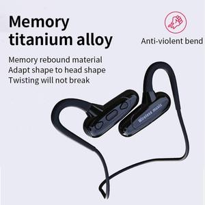 Image 5 - Cyboris não na orelha bluetooth fone de ouvido esporte condução óssea 16gb mp3 player fone de ouvido 10 horas jogar tempo correndo ipx7 alta fidelidade graves