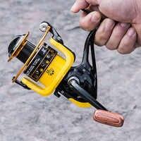 12BB 12 Cuscinetti A Sfera 1000-7000 Mulinelli Super Grande Pesca in Mare Ruota Ad Alta Velocità 5.2: 1 di Filatura di metallo Bobina di Pesce Strumenti