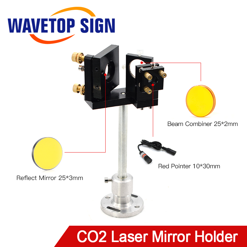 WaveTopSign E Series First Mirror Mount Include Beam Combiner and Red Pointer For CO2 Laser Engraving Cutting Machine image