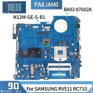 Материнская плата PAILIANG для ноутбука SAMSUNG RV511 RC710, материнская плата, процессор HM55, процессор DDR3, процессор HM55, память для ноутбука, материнска...