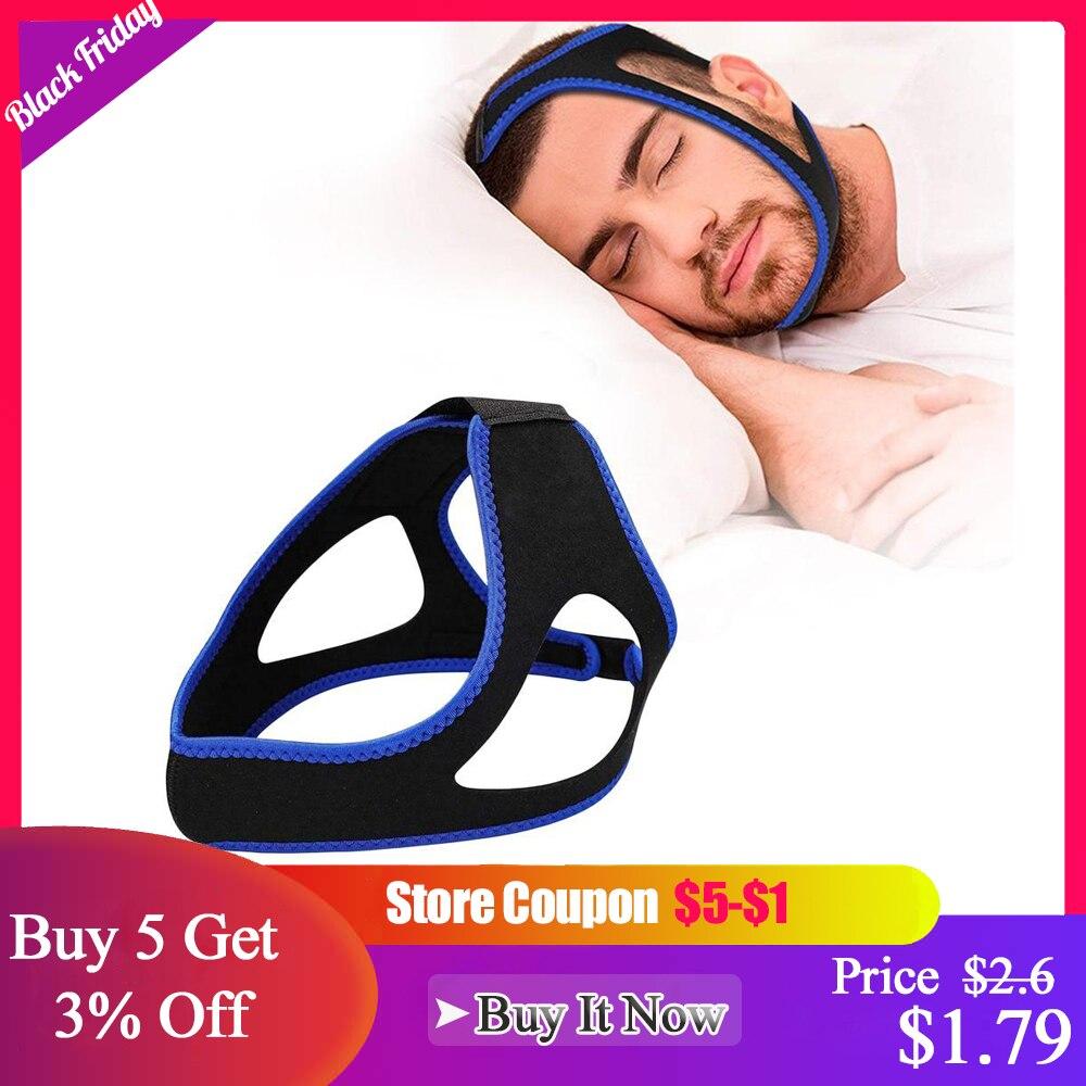 3D Anti Snore Stop Snoring Chin Strap Belt Anti Apnea Jaw Solution Sleep Support Apnea Belt Mouth Guard Sleeping Aid Care Tools