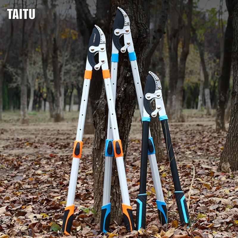 Garden Tree Pruning Shears High Branch Pruning Tool  Long Reach Aluminium Handle Fruit Knife Picker Pruner