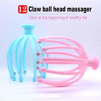 12 Claw Massager Body Head Care Massager Octopus Head Scalp Neck Equipment Stress Release Relax Massage Tens Pain Relief