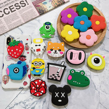 Universal phone Stand bracket Expanding Stand stretch grip phone Holder Finger Cute cartoon flowers stand for iphone X XS universal phone stand bracket expanding stand stretch grip phone holder finger cute cartoon stand for iphone xiaomi samsu
