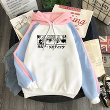 Kpop hunter x hunter hisoka oversize hoodie moletom com capuz manga longa coreano solto hoodies feminino roupas casuais amante dropshipping