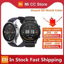 Original Xiaomi Mi Uhr Farbe 1.39 ''AMOLED GPS Fitness Tracker 5ATM Wasserdichte Sport Heart Rate Monitor Mi Smart Uhr