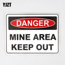 Yjzt 13.9cm × 10.1cm carro adesivo mina área manter para fora pvc Decal12C-0677