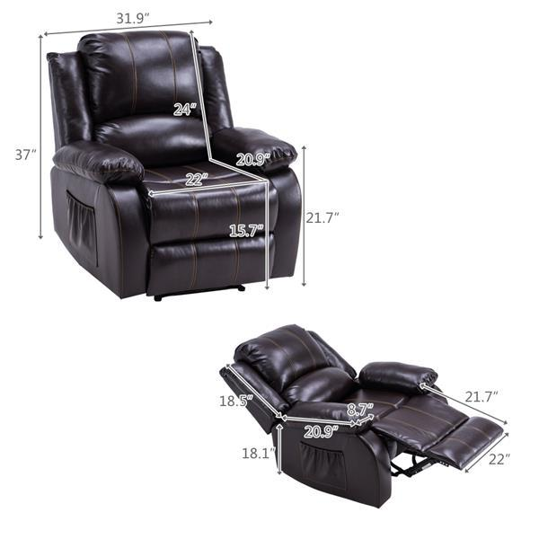 91 x 95 x 10)cm Recliner Style Function Chair  3