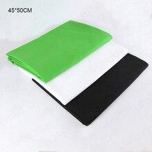 45x45 45x100 50x100 70x100 100x150 150x150 Smooth Green Screen Chroma Key Background Green White Black Backdrop for Photo Studio