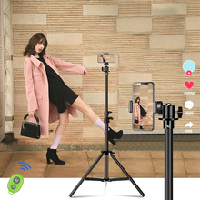 Portable Tripod For Phone Camara Ring Light Flexible Selfie Tripod Stand With Bluetooth Remote Control &Holder For Phone