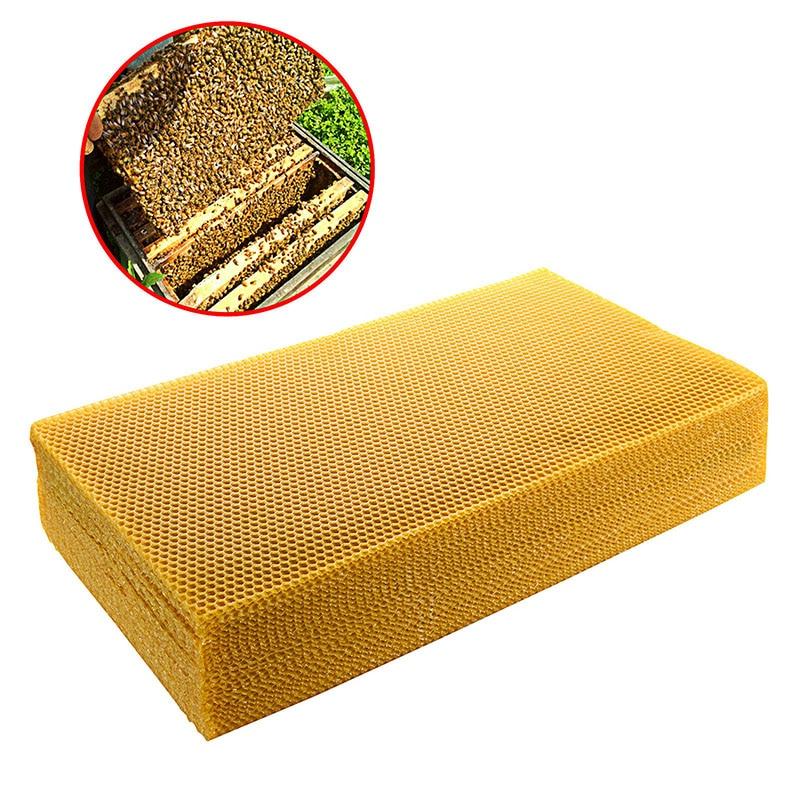 10pcs/lot Honeycomb Beeswax Foundation Beehive Wax Frames Base Sheets Bee Comb Honey Frame Beeswax Sheet 200*415mm