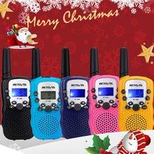 RETEVIS RT388 ווקי טוקי ילדי מכשירי קשר 2 pcs מיני דו דרך רדיו תחנת PMR מתנה לחג המולד/שימוש משפחה/קמפינג 100 800M