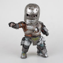 Marvel Iron Man 3 Mark 1 jajko atak pcv figurka z lampką LED zabawka-model do kolekcjonowania 20cm(China)