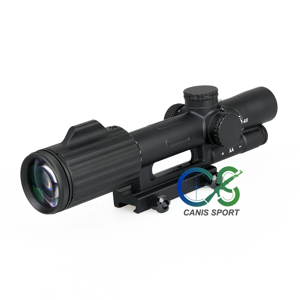 Ffp 1-6x24 cruz concêntrico rifle caça riflescope