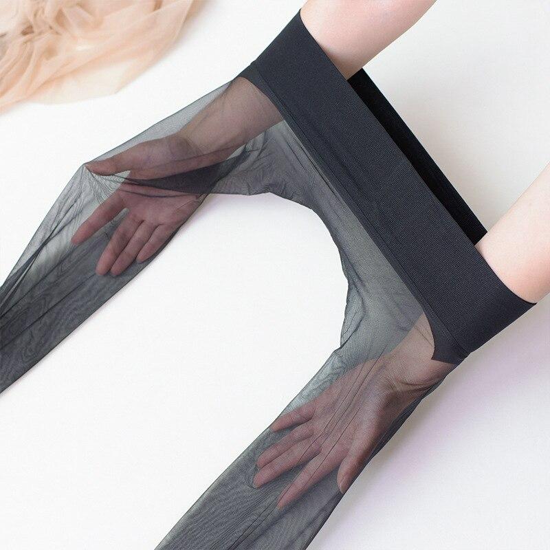 Шелковистые бесшовные чулки 360, колготки, полностью прозрачные ультратонкие, без следов, сексуальная невидимость