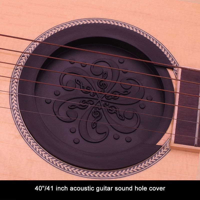 Guitar Soundhole Cover Silicone Sound Hole Cover Block Weak Sound Buffer Plug Acoustic Classic Folk Guitar Parts Accessory