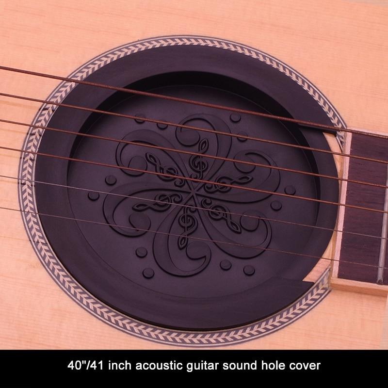 Guitar Soundhole Cover Silicone Sound Hole Cover Block Weak Sound Buffer Plug Acoustic Classic Folk Guitar Parts Accessory