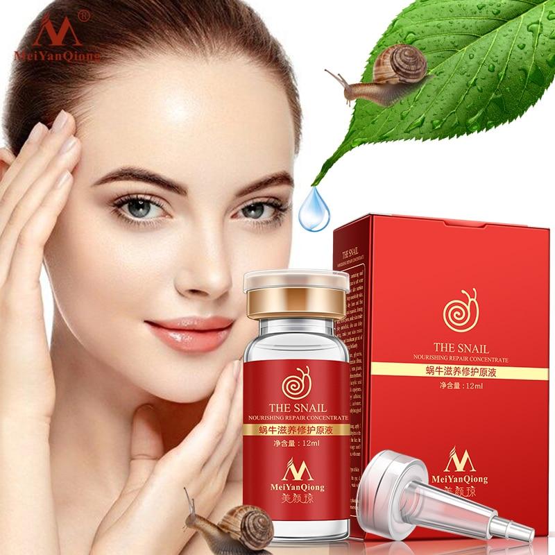 High Quality Snail100% Essence Hyaluronic Acid Liquid Whitening Spot Essence Shrink Pores Ampoule Anti-acne Regenerative Essence