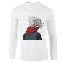 Long Sleeve T-Shirt Naruto Japan Anime Capsule Men 2019 Hot Autumn Cotton Casual T Shirts White Gray  Mens Brand Clothing