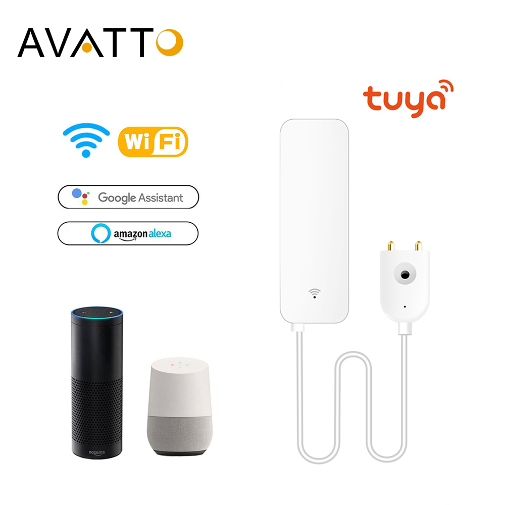 AVATTO Tuya WiFi Water Leak Sensor, Water Leak Detector, Smartlife APP Notification Alerts,Water Flood Leak Alarm Home Security