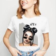 Bad girl print tshirt summer 2019 white t-shirt top female grunge aesthetic clothes women Graphic tees shirt femme t