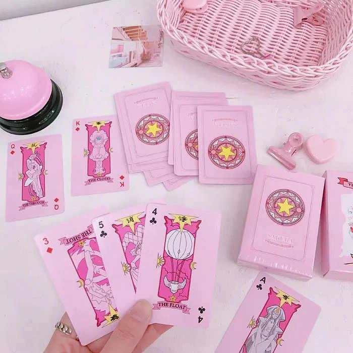 Card Captor Sakura Clow Card Pink Magic Book 50Pcs Collection Cards Girls Gift